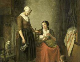 Mleko zaprawione siarką? Jak opiekować się niemowlęciem (źródło: domena publiczna).