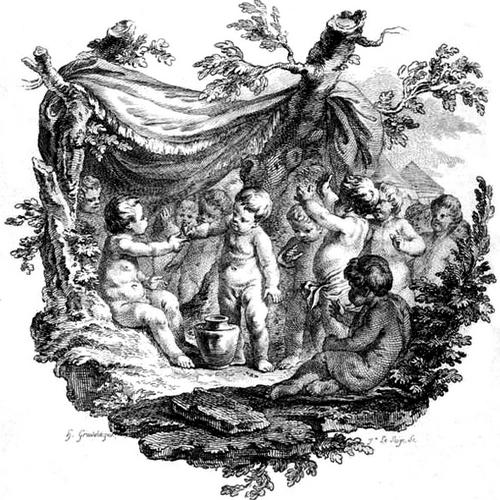 Gromadka aniołków. Czyżby dzieciaczki z Galicji? (źródło: domena publiczna)