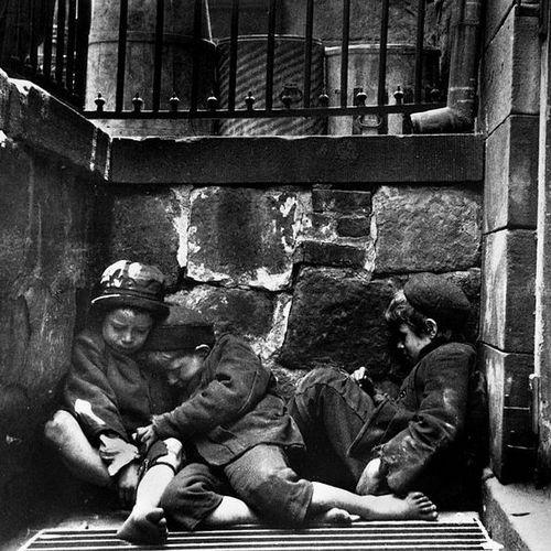 Także w USA bezdomność dzieci była problemem (źródło: domena publiczna).