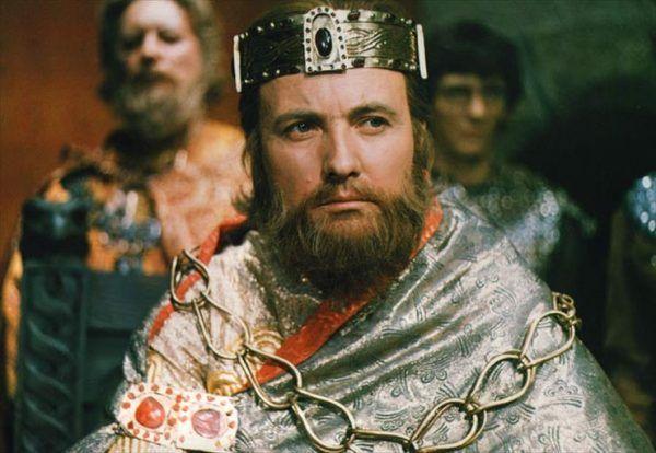Ignacy Gogolewski jako Bolesław Śmiały w filmie fabularnym z 1971 roku.