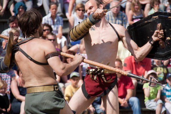 Walka gladiatorów z pewnością była dobrą zabawą... Niestety wyłącznie dla publiki (fot. Hans Splinter, CC BY-ND 2.0).