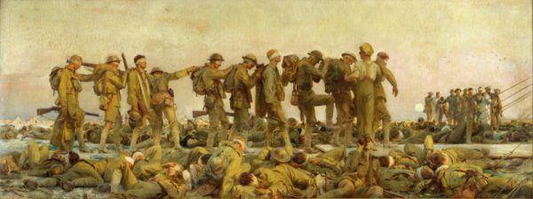 Ofiary gazów bojowych na płótnie Johna Singera Sargenta. Czy takie obrazy stały się inspiracją do powstania napalmu? (domena publiczna).