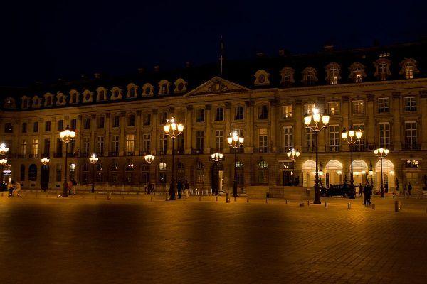 Hotel Ritz w Paryżu. Widok z placu Vendôme.