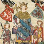 Wacław II na miniaturze z Codex Manesse (między 1305 a 1340).
