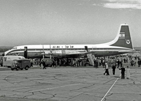 Samolot Bristol Britannia 312 4X-AGB, którym przetransportowano Eichmanna do Jerozolimy (fot. RuthAS, CC BY 3.0).