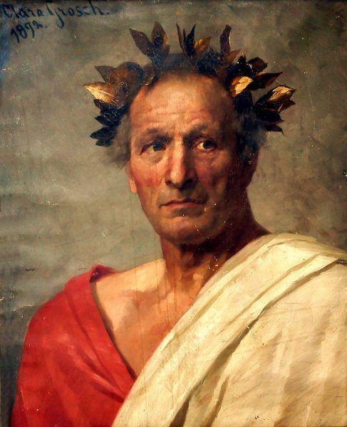 Poznać Juliusza Cezaraz - oto marzenie! (portret autorstwa Clary Grosch, domena publiczna).