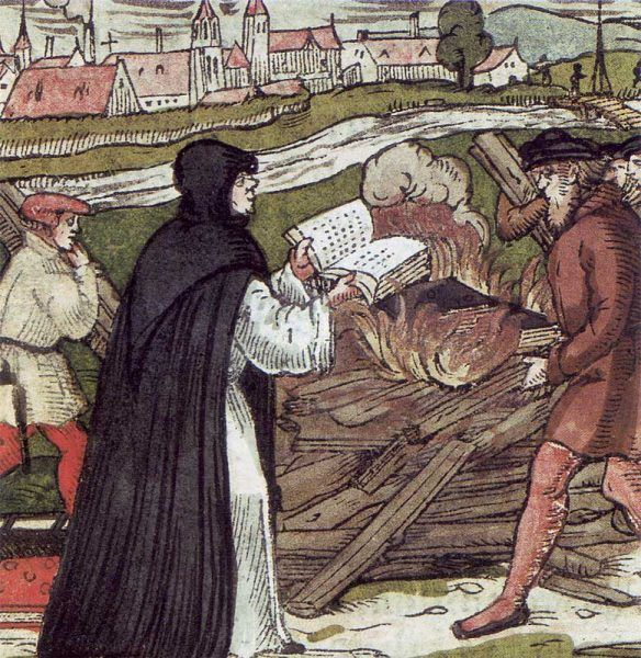 Marcin Luter nie był wcale zwolennikiem wolności słowa. Obok katolickiej istniała też oczywiście cenzura protestancka (il. domena publiczna).