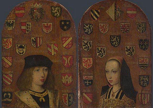 Po fiasku mariażu z Francją, cesarz Maksymilian zdecydował, że Filip i Małgorzata (na ilustracji) poślubią dzieci hiszpańskiego króla (źródło: domena publiczna).