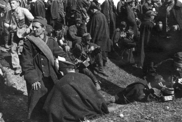 Nawet w obozie jenieckim polscy żołnierze nie mogli czuć się bezpiecznie (źródło: domena publiczna).