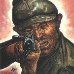 Japoński żołnierz na jednym z amerykańskich plakatów propagandowych (domena publiczna)..