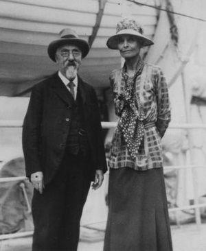 Beatrice Webb z mężem w podróży do Związku Radzieckiego.