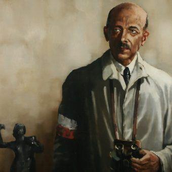 """Obraz """"Gen. Tadeusz Bór-Komorowski"""" pędzla Macieja Milewskiego (1990)."""