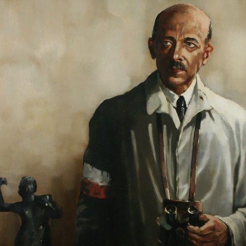 """Obraz """"Gen. Tadeusz Bór Komorowski"""" pędzla Macieja Milewskiego (1990)."""