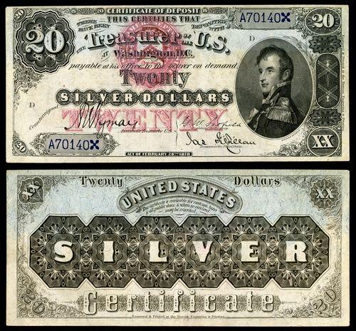 Stephen Decatur trafił nawet na specjalną srebrną serię dwudziestodolarówek (źródło: domena publiczna).