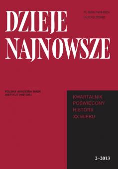 """Materiał powstał w oparciu o artykuł naukowy opublikowany w periodyku """"Dzieje Najnowsze""""."""