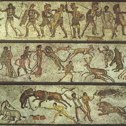 Zabawa podczas igrzysk według starożytnych Rzymian (źródło: domena publiczna).