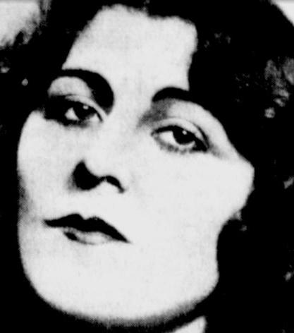 """Tancerka Jeanne De La Mar. Kolejna kobieta w życiu Rudolfa. Fotografia z dziennika """"The Milwaukee Sentinel"""", 15.10.1933."""