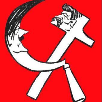 Pakt Ribentrop-Mołotow, karykatura z francuskiej prasy (domena publiczna).
