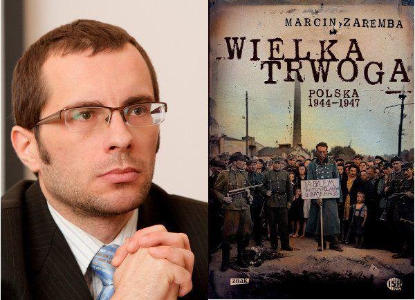 """Prof. Patryk Pleskot poleca: """"Wielka trwoga. Polska 1944–1947. Ludowa reakcja na kryzys"""" (Znak 2012) (fot. P. Życieński)."""