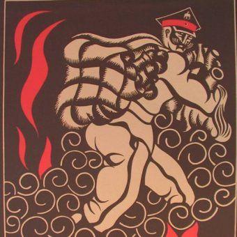 Symon Petlura według sowieckiej propagandy: jako najemnik, który sprzedał Ukrainę Polakom.