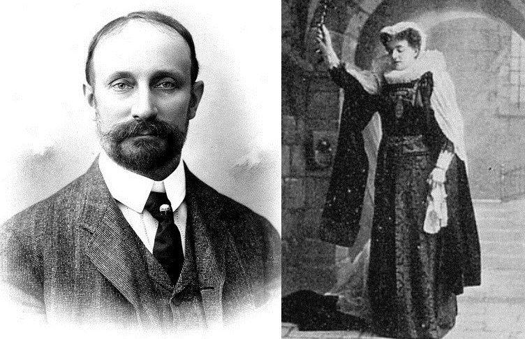 Syn z matką czy jednak rodzeństwo? Rudolf i Helena Modrzejewscy (źródło: domena publiczna).