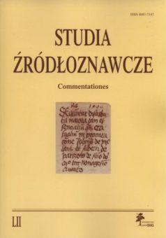 """Materiał powstał w oparciu o artykuł naukowy opublikowany w periodyku """"Studia Źródłoznawcze""""."""