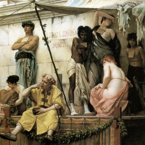 Targ niewolników pędzla Gustawa Boulangera (źródło: domena publiczna).