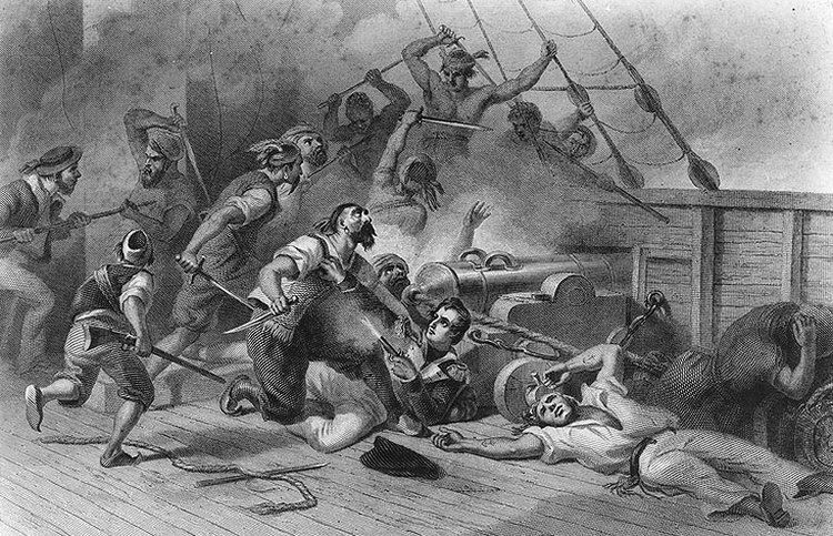 A tak Decatur walczył z Berberami pół roku po akcji opisanej w artykule (źródło: domena publiczna).