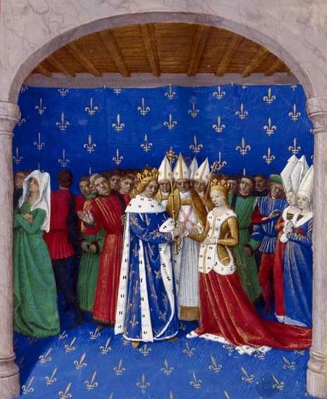 Już cztery miesiące po unieważnieniu związku z żono-siostrą Karol IV poślubił Marię Luksemburską (źródło: domena publiczna).