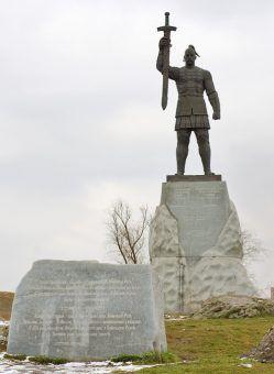 Książę Rusi Światosław I, który rozbił wojska Chazarów w 965 roku i zniszczył ich dwa największe miasta. Wkrótce potem ich państwo przestało istnieć (fot. Marsijan, domena publiczna).