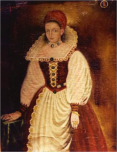 Elżbieta Batory - kopia zaginionego portretu (źródło: domena publiczna).