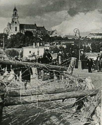 Zdjęcie Grodna wykonane już po jego zajęciu przez Sowietów (źródło: domena publiczna).