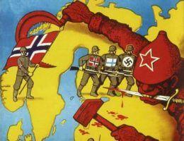 Duński plakat propagandowy z okresu II wojny światowej zachęcający do wzięcia udziału w krucjacie przeciwko bolszewizmowi (źródło: domena publiczna)