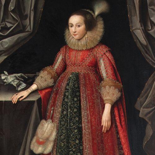 """Tę panią też czekały podobne praktyki (obraz Marcusa Gheeraertsa Młodszego """"Portret Susanny Temple"""" z 1620 roku, domena publiczna)."""