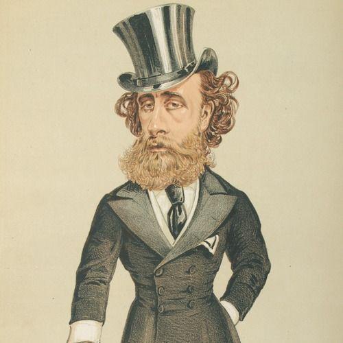 """I jakby tu z nią zerwać? (karykatura Johna Townshenda z """"Vanity Fair"""" z 1870 roku, domena publiczna)"""