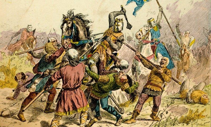 Król Filip II August odnosił sukcesy na wielu polach bitewnych, ale w małżeńskiej potyczce to ostatecznie Ingeborga go przetrzymała (praca P.delacroix, lic. CC-BY-SA-4.0).