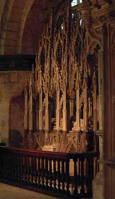 Nagrobek Edwarda II w katedrze w Gloucester - niedoszłe centrum kultu jego świętości (źródło: domena publiczna).