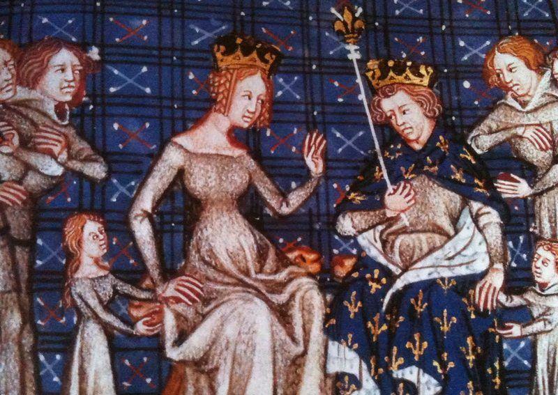 Filip I krytycznym okiem zerkał na pierwszą żonę. Czyżby w jego oczach już miała nadwagę? (źródło: domena publiczna)