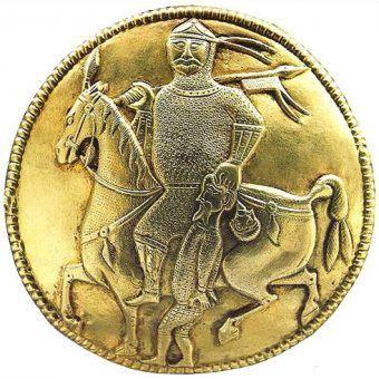 Wojownik jednego ze stepowych chanatów z 7-10 wieku (domena publiczna).