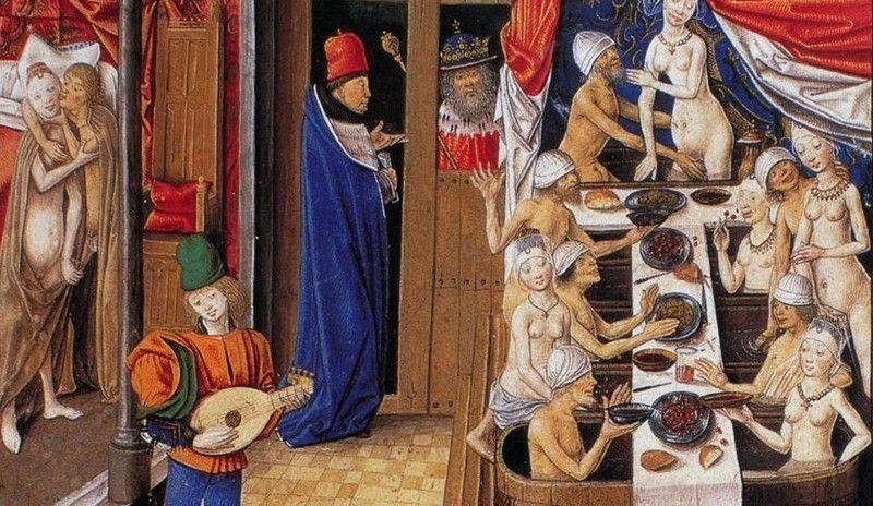 Idealne połączenie na miarę fabiliaux, czyli jedzenie i erotyzm (źródło: domena publiczna).