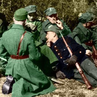 Żołnierze 27 Wołyńskiej Dywizji Piechoty AK (domena publiczna).