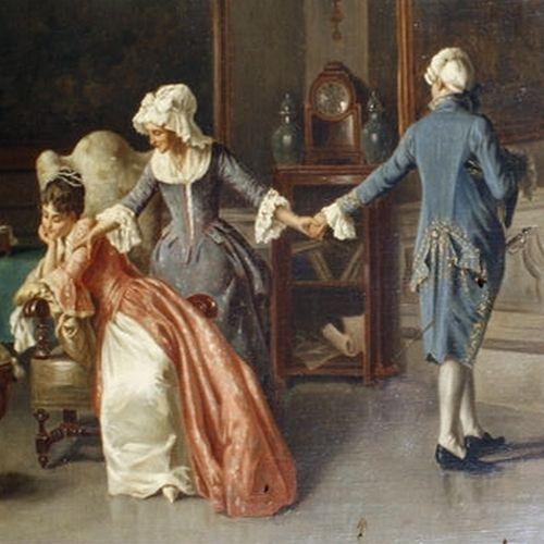 """Nawet jeśli kochanka jest tuż-tuż, udawaj, że nic nie wiesz (fragment obraz Alessandro Sani """"Spourned lover"""", domena publiczna)."""