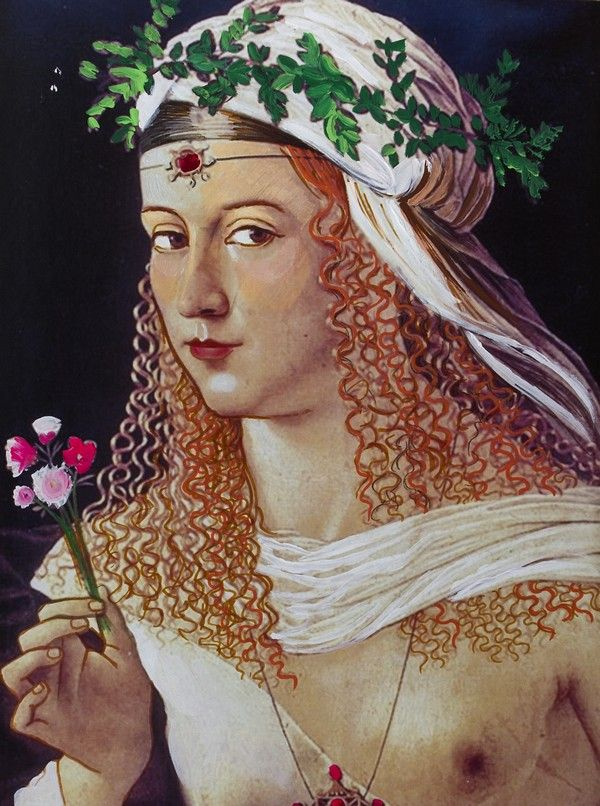 """Lukrecja Borgia. Ilustracja pochodzi z książki """"Córka papieża"""", autor: Dario Fo we współpracy z Jessicą Borroni i Michelą Casiere."""
