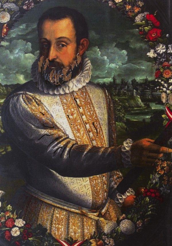 """Alfons d'Este. Ilustracja pochodzi z książki """"Córka papieża"""", autor: Dario Fo we współpracy z Jessicą Borroni i Michelą Casiere."""