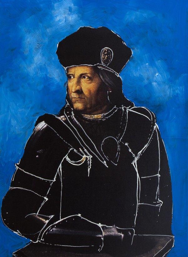 """Ercole d'Este. Ilustracja pochodzi z książki """"Córka papieża"""", autor: Dario Fo we współpracy z Jessicą Borroni i Michelą Casiere."""