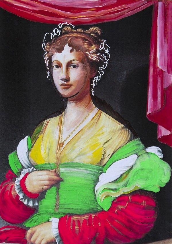 """Vanozza Cattanei. Ilustracja pochodzi z książki """"Córka papieża"""", autor: Dario Fo we współpracy z Jessicą Borroni i Michelą Casiere."""