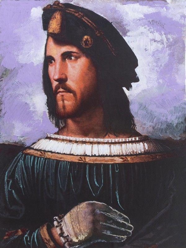 """Cezar Borgia. Ilustracja pochodzi z książki """"Córka papieża"""", autor: Dario Fo we współpracy z Jessicą Borroni i Michelą Casiere."""