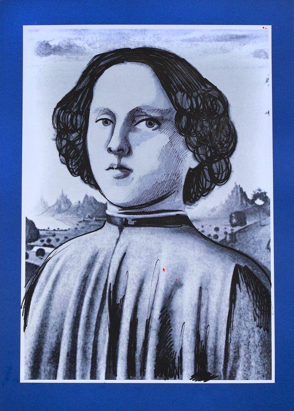 """Joffre Borgia. Ilustracja pochodzi z książki """"Córka papieża"""", autor: Dario Fo we współpracy z Jessicą Borroni i Michelą Casiere."""