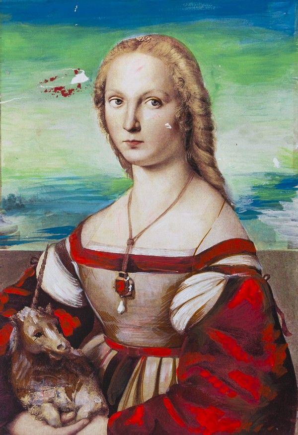 """Giulia Farnese. Ilustracja pochodzi z książki """"Córka papieża"""", autor: Dario Fo we współpracy z Jessicą Borroni i Michelą Casiere."""