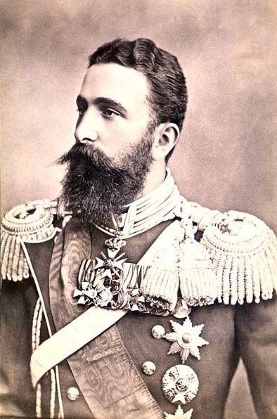 Portret księcia Aleksandra Battenberga sporządzony ok. 1880 roku przez Dymitara Karastojanowa (źródło: domena publiczna).